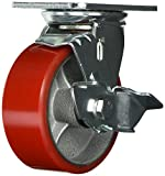Grizzly G8177 Heavy-Duty Swivel Caster with Brake, 5-Inch