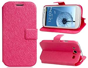 Silk Pattern Stand Faux Leather Flip Case for Samsung Galaxy S3/ I9300 (Pink)
