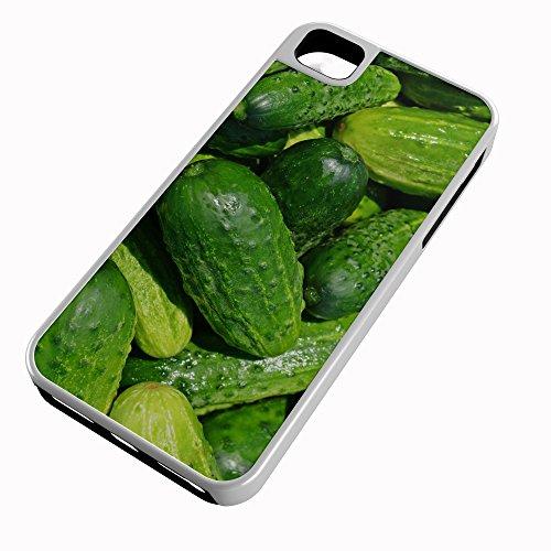 iPhone Case Fits iPhone 8 PLUS 8+ Hybrid Tough Case Cucumber Gourd Vine Burpless Pickle Slicing White Plastic Black Rubber