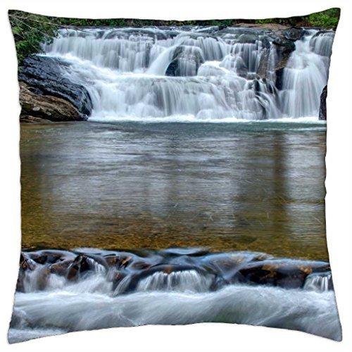 dicks-creek-falls-georgia-throw-pillow-cover-case-18-x-18