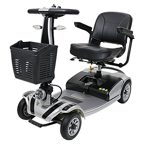 電動シニアカート 銀 シルバーカー 車椅子 運転免許不要 折りたたみ 軽量 コンパクト 電動カート 四輪車 4輪車 移動 高齢者 充電 シート回転 電動車椅子 電動車いす 介護 福祉 敬老 お年寄り 老人 乗り物 贈り物 プレゼント スクーター シルバー scooterd01sv B01N34GCPA