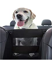 PET DEZINE Dog Car Safety Barrier - Front & Back Seat Barrier, Travel Safe Pet Car Net, Suitable for All Size Dogs, Easy To Install Pet Divider for Cars and SUV's