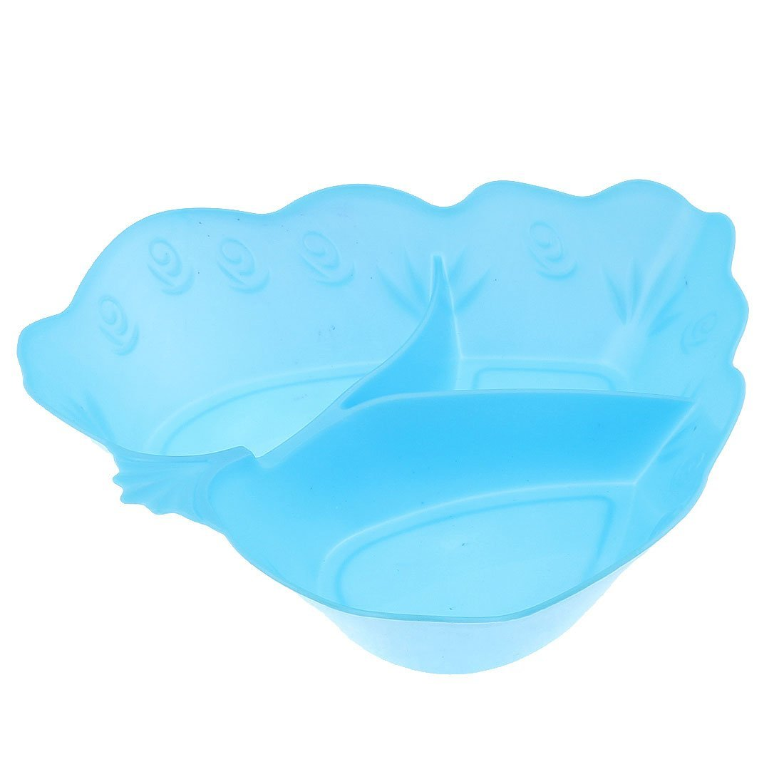 Amazon.com: DealMux Plastic coração Design Fruto vegetal chapa bandeja 2 Pcs Rosa Coral Blue: Kitchen & Dining