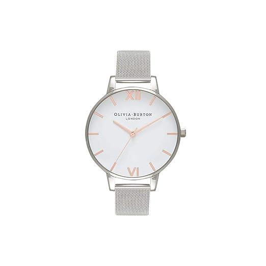 Olivia Burton Reloj Analógico para Mujer de Cuarzo con Correa en Acero Inoxidable OB16BD97: Amazon.es: Relojes