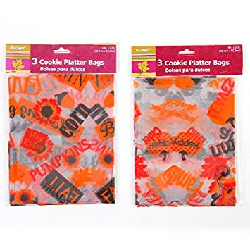 Amazon.com: FLOMO 1980958 Cookie Bags with Harvest Patterns ...