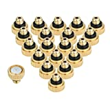 KUWAN 20pcs Brass Misting Nozzles for Cooling System 0.012'' (0.3 mm) 10/24 UNC Garden