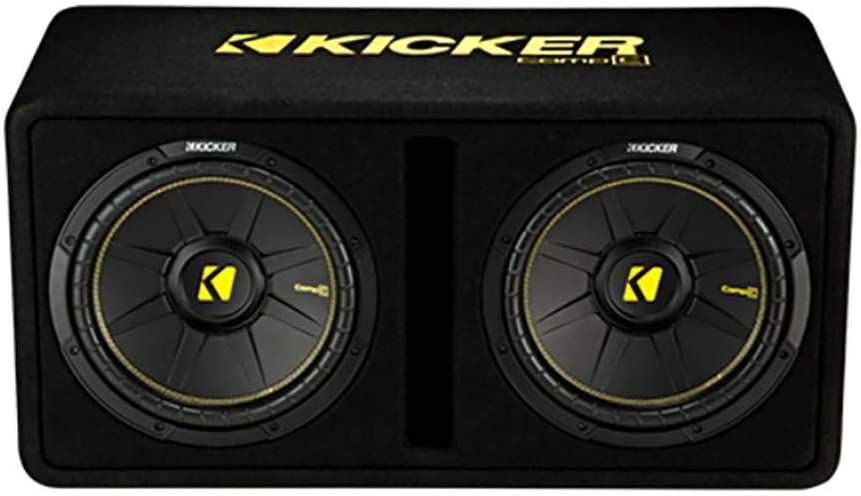 "KICKER 44DCWC122 12"" 1200W Complete Subwoofer Bass Package - Includes Loaded Subwoofer Enclosure, Amp, Wiring Kit"