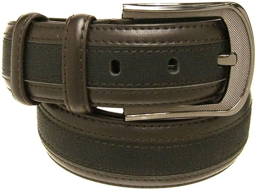 RDumani Mens Belts Top Grain and Split Leather Belts Black//Brown 38mm Up to 42-36