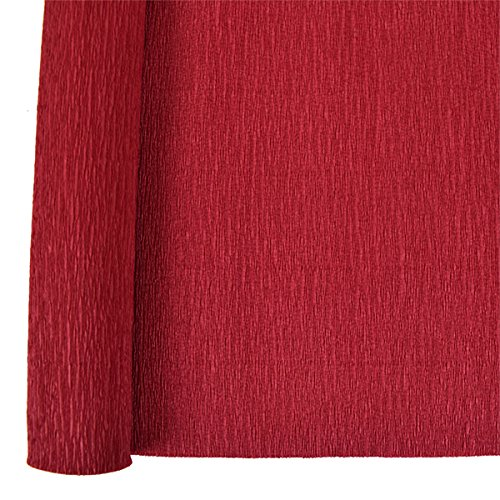Just Artifacts Premium Crepe Paper Roll - 8ft Length/20in Width (Color: Dark Red)