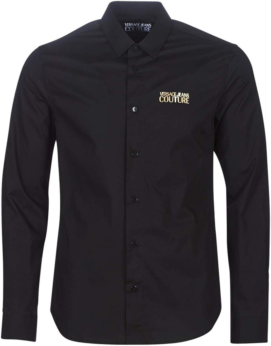 Versace Jeans Couture Hombre Camisa Nero 50 EU: Amazon.es: Ropa y accesorios