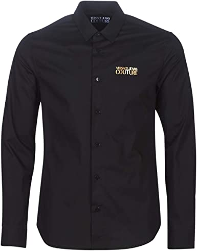 Versace Jeans Couture Hombre Camisa Nero: Amazon.es: Ropa