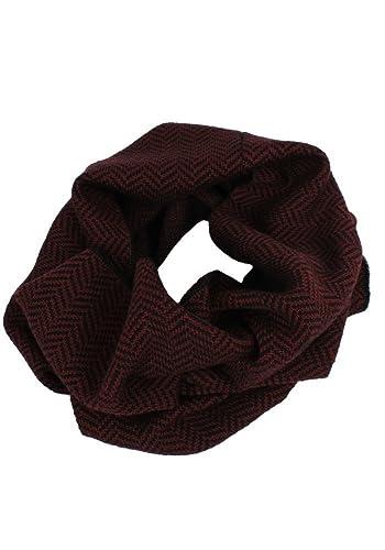 Amazon Com Emji 100 Cashwool Merino Wool Cowl Scarf Herringbone