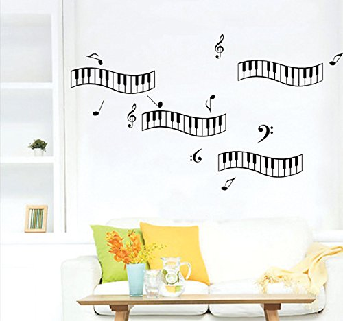 Let'S Diy Piano Key Musical Notes Vinyl Removable Home Decor Kids Baby Nursery Wall Poster Stickers Decal Mural