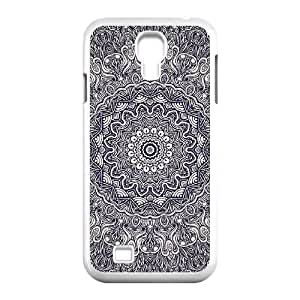 Diy Mandala Flower Phone Case for samsung galaxy s4 White Shell Phone JFLIFE(TM) [Pattern-2]