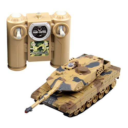 POCO DIVO 2.4Ghz Abrams M1A2 Tank Infrared Battle Panzer RC 1/36 Military Vehicle - Desert Camouflage
