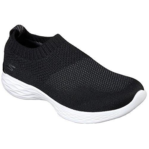 Skechers Performance Women's You-14968 Sneaker,Black/White,6.5 M US by Skechers