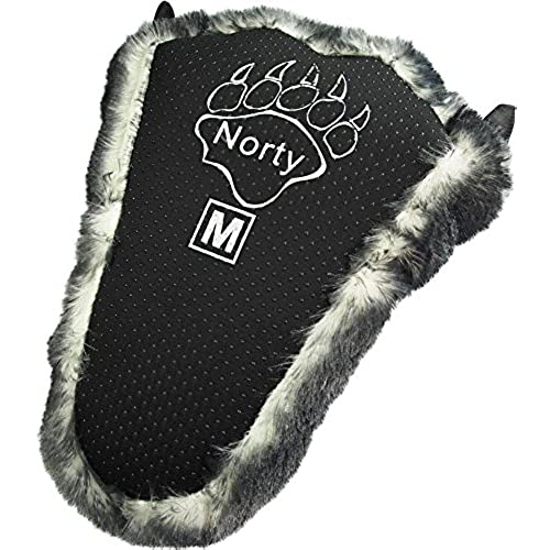 31d9abc44174 NORTY Grizzly Bear Stuffed Animal Claw Slippers - Plush Paw Slippers -  Furry Animal Slippers -