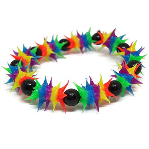 Price comparison product image Rubber UV Neon Bead Bracelet Colour & Design Cyber Party (Full colors)