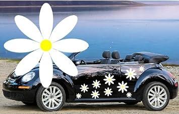 WHITE DAISY FLOWER VINYL CAR DECALSSTICKERSCAR GRAPHICS - Car window stickers amazon uk