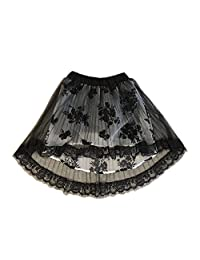 Kids Bron Girls Pleated High Low Chiffon Party Skirt (Little girl/Big Girl)