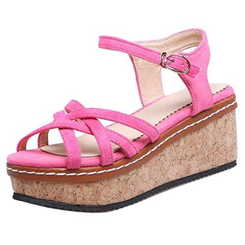 TAOFFEN Femmes Pink Compensees Pink TAOFFEN TAOFFEN Compensees Sandales Compensees Femmes Sandales Femmes qfT7nqOr