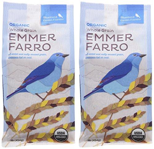 Certified Organic Heirloom Wheat Whole Grain Emmer Farro Washington Pack of 2 454 g 16 oz each