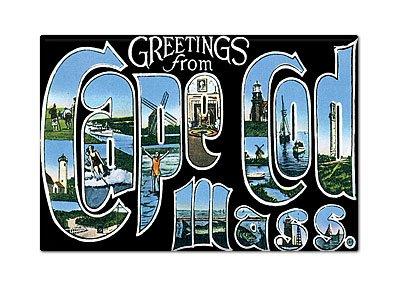 Greetings from Cape Cod Massachusetts Fridge Magnet