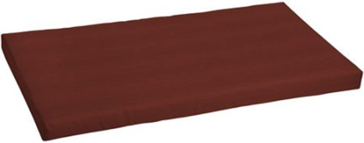 Comfort Classics Inc. Outdoor Patio Bench Cushion 24 L x 45.5 W x 3.5 H. Polyester Fabric Burgundy Mel