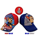 Nickelodeon Little Boys Paw Patrol Character Cotton Baseball Cap, 2 Piece Design Set, Age 2-7 (Little Boys – Age 4-7 (53CM))
