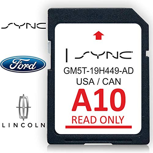 Ford Lincoln A10 SYNC Navigation SD Card Map 2019 USA Canada with AntiLost Keychain and 2 AntiFog Film Special Set