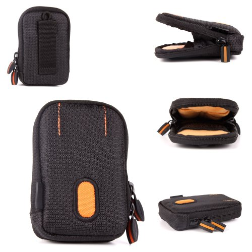 DURAGADGET Rugged Black and Orange Protective Case with Belt Loop for The Maxtronic Metasonics by DURAGADGET