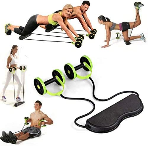 Amazon Com Mazimark Abs Roller Workout Equipment Exercise Body Fitness Abdominal Training Machines Gree Health Personal Care
