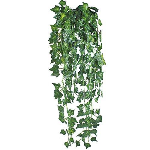 Gtidea 6 Feet 2pcs Artificial English Ivy Leaves Greenery