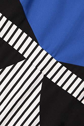 77 Da Donna Maniche Elegante Slim Abito Summer Blau Mode Strisce Bolawoo Di Dress Sera Righe Vintage Marca Tubino A Senza FJc1KTl