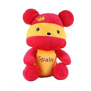 Banderas de la mascota de peluche de juguete de recuerdo de oso lindo muñeca, España