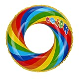 Besde swimming Ring float toys Pool River Lake Beach Raft Floating Tube Ring (70, Multicolor)