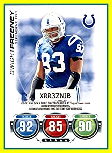2010 Topps Attax Code Cards #12 Dwight Freeney INDIANAPOLIS COLTS