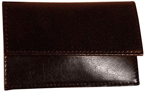 - Budd Leather Buffalo Calf Business Card Case, Black