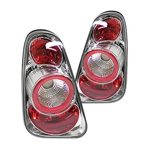 (VIPMOTOZ For 2002-2008 Mini Cooper R50 R52 R53 Chrome Bezel Euro Style Altezza Tail Light Housing Lamp Assembly Replacement Driver and Passenger Side)