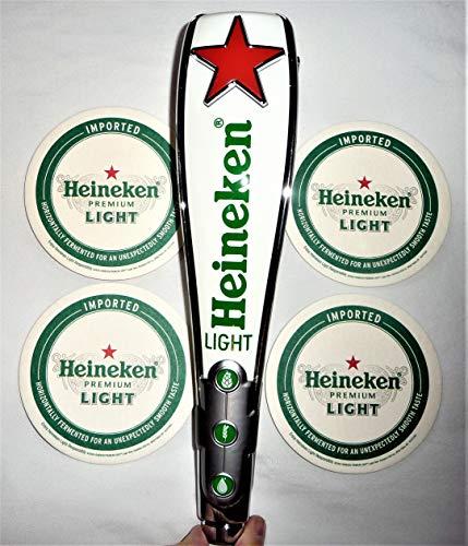 Heineken Light Red Star Tap Handle and Coaster ()