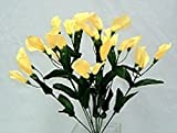 27 Calla Lilies Silk Yellow Wedding Bouquet Centerpieces Flowers Home Decor