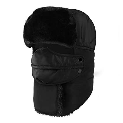 cfe387e96e8 IPENNY Winter Windproof Warm Trooper Hat   Trapper Ushanka Hat Beanie Warm  Hats for Men and