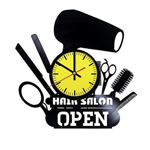 Beauty Hair Salon Art Decor Vinyl Record Wall Clock - Get unique room wall decor - Gift ideas boys and girls – Interior Decor Unique Modern Art Design