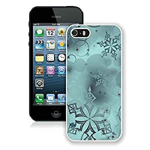 Personalized Hard Shell Iphone 5S Protective Cover Case Snowflakes Digital Art iPhone 5 5S TPU Case 1 White