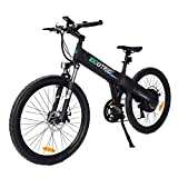 ECOTRIC New Electric Bike Matt Black Electric Mountain Bicycle 500w Lithium 36V 10AH Battery 26' City Tire Ebike