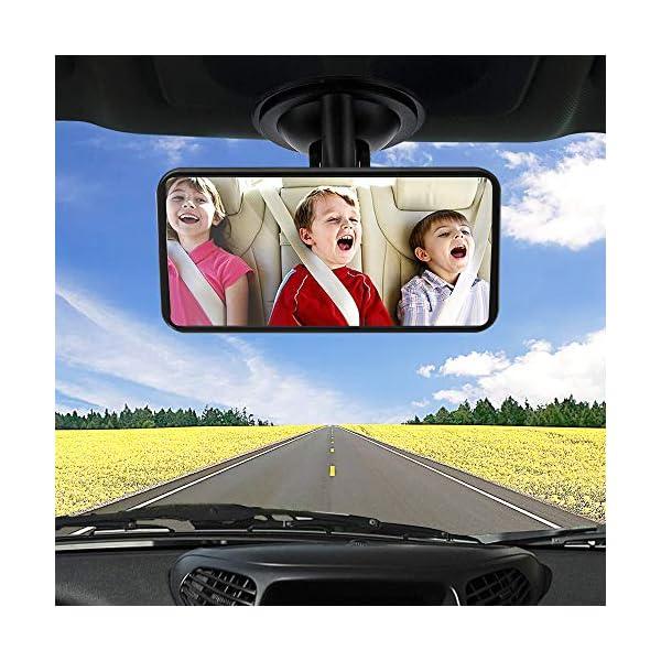 SunTop Specchio Auto Bambino Baby Bambino Vista Posteriore Specchio, specchietto retrovisore Bambino,Specchio per Auto… 6