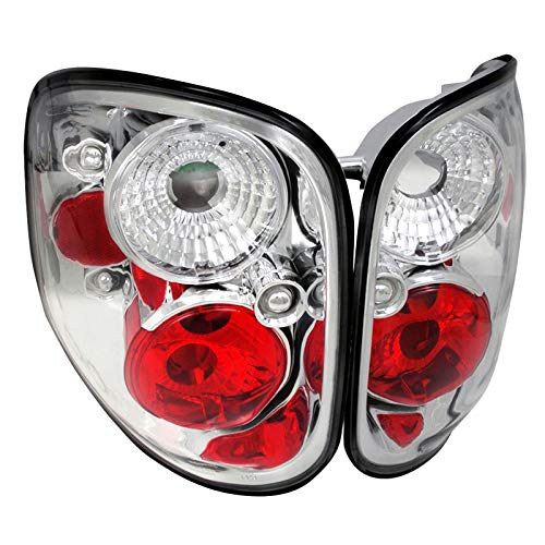 Spec-D Tuning LT-F150F97-TM Ford F150 Xl Xlt Flareside Chrome Housing Altezza Tail Lights