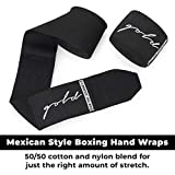 Gold BJJ Boxing Hand Wraps - Extra Long Mexican