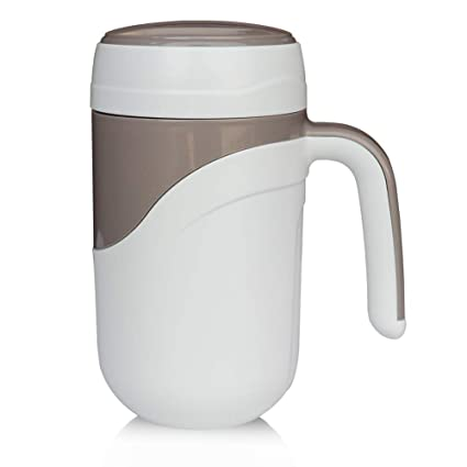 769ffbd4e60 FamilyDate Tall Ceramic Lined Coffee Travel Mug with Lid and Handle,13OZ  Insulated Gift Coffee