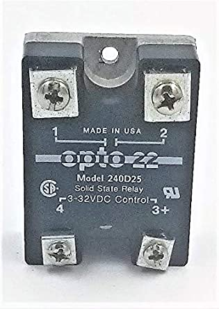 Opto 22 240D25 SSR Relay 240V 25 Amp 3-32 Volt C
